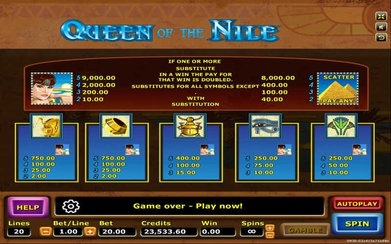 เกมQueen Ofthe Nile